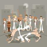 Brazylijska sztuka samoobrony Capoeira ilustracja wektor
