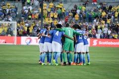Brazylijski drużyna narodowa. łączący podczas Copa Ameryka Centenario Obrazy Royalty Free