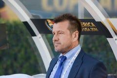Brazylijski drużyna narodowa. trener Dunga podczas Copa Ameryka Centenar Fotografia Stock