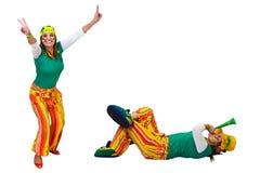 Brazylijski fan puszek, pozycja lub zdjęcia stock