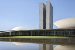 Brazylijski parlament, kongres narodowy obraz stock