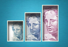 Brazylijski pieniądze wykres Zdjęcia Royalty Free