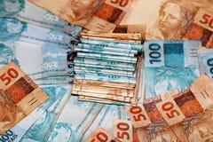 Brazylijski pieniądze tort Zdjęcia Royalty Free