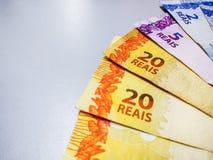 Brazylijski real zauważa 2, 20 reais obrazy royalty free