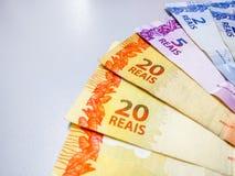 Brazylijski real zauważa 2, 20 reais obraz royalty free