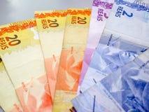 Brazylijski real zauważa 2, 20 reais fotografia royalty free