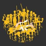 Brazylijski sztuki samoobrony Capoeira Roda okrąg ilustracja wektor