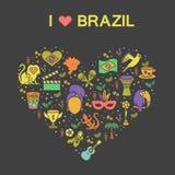 Brazylijski tematowy druk 2 Zdjęcie Royalty Free