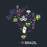 Brazylijski tematowy druk 3 Obrazy Royalty Free