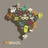 Brazylijski tematowy druk 6 Zdjęcie Stock