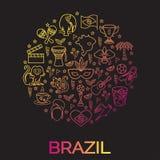 Brazylijski tematowy druk 1 Obrazy Stock