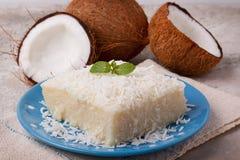 Brazylijski tradycyjny deser: słodki couscous tapiok pudding obraz royalty free