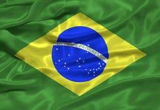 Brazylijskie 3 flagę Zdjęcie Royalty Free