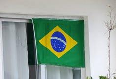 brazylijskiej flagę Obrazy Royalty Free