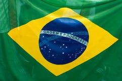 brazylijskiej flagę Fotografia Royalty Free