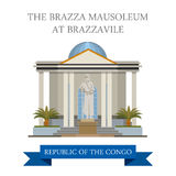 The Brazza Mausoleum in Republic of Congo vector i Royalty Free Stock Photo