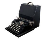 bärbar skrivmaskinstappning Arkivbilder