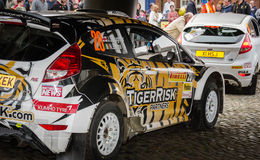 BRC Rally Cars in Brampton Royalty Free Stock Photo
