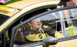 BRC rally driver Rhys Yates Stock Image