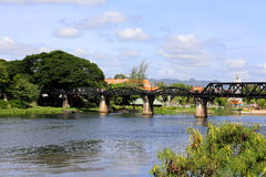 Brücke über dem Fluss kwai Lizenzfreies Stockfoto