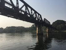 Brücke über Fluss Kwai, Thailand Lizenzfreies Stockbild