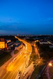 Brücke über Wisla in Warschau Stockfoto