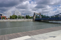 Brücke Breslau Grunwaldzki Stockbilder