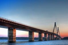Brücke in Dänemark Stockfotografie