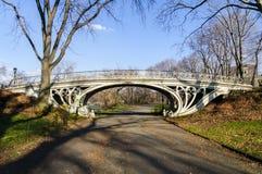 Brücke im Central Park, New York Stockbild