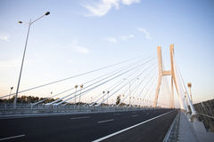 Brücke im Wroclaw Stockfotografie