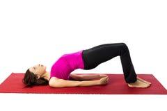 Brücken-Haltung im Yoga Stockbild