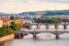 Brücken von Prag Lizenzfreie Stockbilder