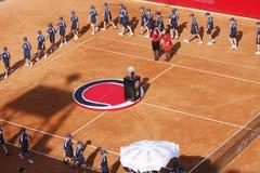 BRD öffnen 2012 abschließend: Gilles Simon Fabio Fognini stockbild