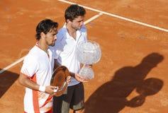 BRD öffnen 2012 abschließend: Gilles Simon Fabio Fognini lizenzfreies stockbild