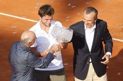 BRD öffnen 2012 abschließend: Gilles Simon Fabio Fognini lizenzfreie stockfotos