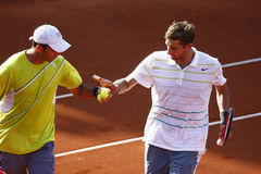 BRD öffnen Doppelfinale 2013: Horia Tecau/Max Mirnii gegen Dlouhy/Marach Lizenzfreies Stockbild