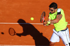 BRD Nastase Tiriac Trophy Open Gilles SIMON- Janko TIPSAREVICI Royalty Free Stock Photos