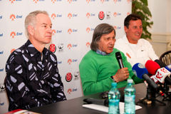 BRD Nastase Tiriac Trophy press conference Stock Photo