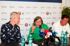 BRD Nastase Tiriac Trophy press conference Royalty Free Stock Photos