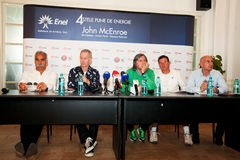 BRD Nastase Tiriac Trophy press conference Stock Images