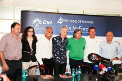 BRD Nastase Tiriac Trophy press conference Royalty Free Stock Photo