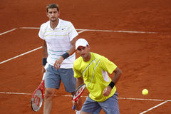 BRD Open 2013 Doubles Final:Horia Tecau/ Max Mirnii vs. Dlouhy/ Marach Stock Photos