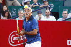 BRD Open 2013 Exhibition Match: Adriano Panatta/Ilie Nastase - Andrei Pavel/Mansour Bahrami Royalty Free Stock Images