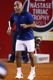 BRD Open 2013 Exhibition Match: Adriano Panatta/Ilie Nastase - Andrei Pavel/Mansour Bahrami Royalty Free Stock Photo