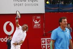BRD Open 2013 Exhibition Match: Adriano Panatta/Ilie Nastase - Andrei Pavel/Mansour Bahrami Stock Photos