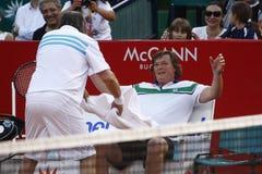 BRD Open 2013 Exhibition Match: Adriano Panatta/Ilie Nastase - Andrei Pavel/Mansour Bahrami Royalty Free Stock Photos