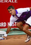 BRD Open : Joao SOUZA (BRA) vs Tommy ROBREDO (ESP). Tommy ROBREDO (ESP) runs for the ball in the tennis match against Joao SOUZA (BRA) at BRD Nastase Tiriac royalty free stock photography