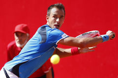 BRD Open 2013 Singles Final : Lukasz Rosol- Garcia Royalty Free Stock Photo