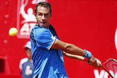 BRD Open 2013 Singles Semi-Final:Lukasz Rosol-Gilles Simon Royalty Free Stock Photography
