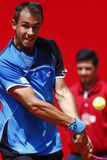 BRD Open 2013 Singles Semi-Final:Lukasz Rosol-Gilles Simon Royalty Free Stock Photos